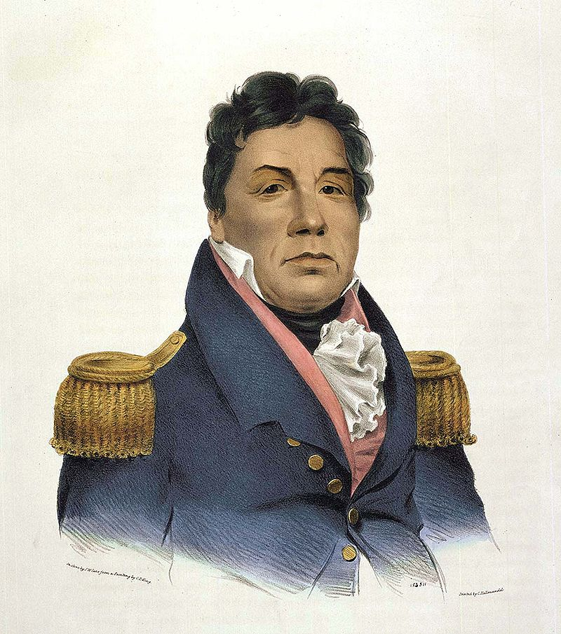 Chefe Choctaw/General americano Pushmataha, 1824